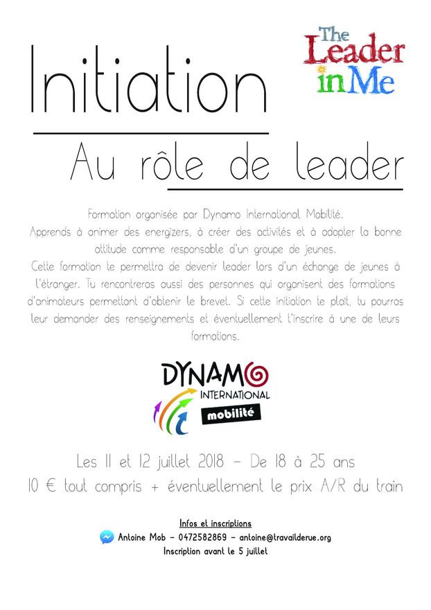 Initiation au rôle de leader du 11 au 12-juillet 2018