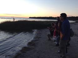 Jeunes en échange, plage en Estonie