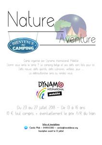 Camping Nature & Aventure du 23 au 27 juillet 2018