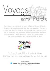 Voyage sans Pétrole du 13 au 21 août 2018 :