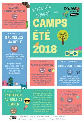 Nos camps cet été en Belgique