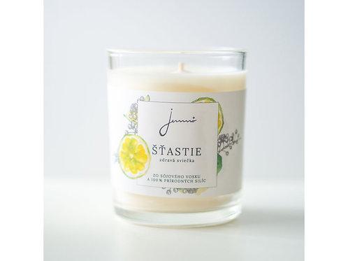 JEMNÔ - sojová svíčka ŠŤASTIE