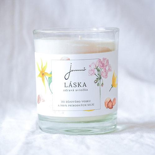 JEMNÔ -sojová svíčka Láska
