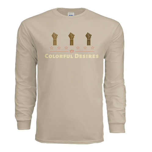 Long Sleeve Beige Collection Colorful Desires Shirt