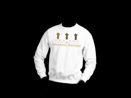 White Colorful Desires Crewneck Sweatshirt