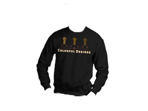 Black Colorful Desires Crewneck Sweatshirt