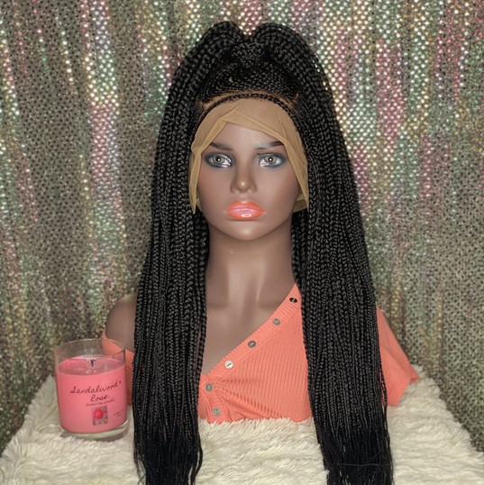 Half up lemonade wig