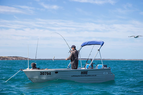 Fishing for King George Whiting at Farm Beach