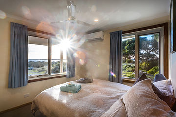 Great ocean views and a comfortable bed
