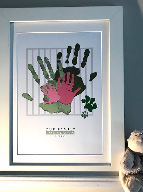 A3 Family Lockdown Print - Green