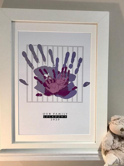 A3 Family Lockdown Print - Purple