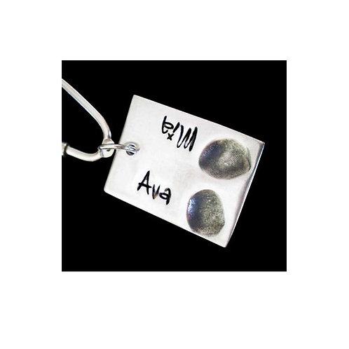 silver keepsake fingerprint keyring basingstoke