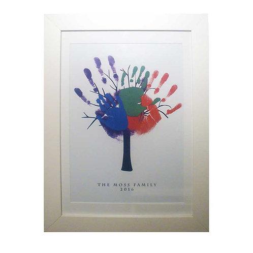 "Family Tree Large Nursery Print 16 x 12"""