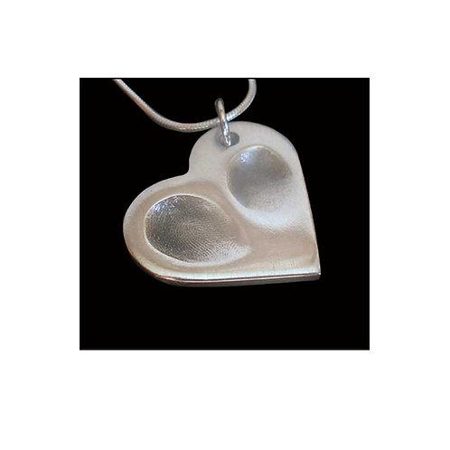 silver double fingerprint sibling keepsake pendant hampshire