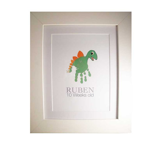 Dinosaur handprint nursery picture decor