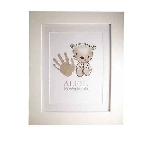 Teddy handprint nursery picture decor