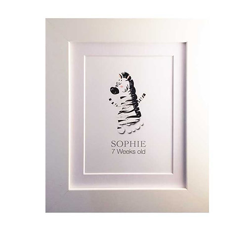 Zebra footprint nursery picture decor