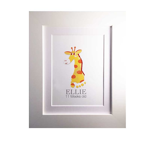 Giraffe footprint nursery picture decor