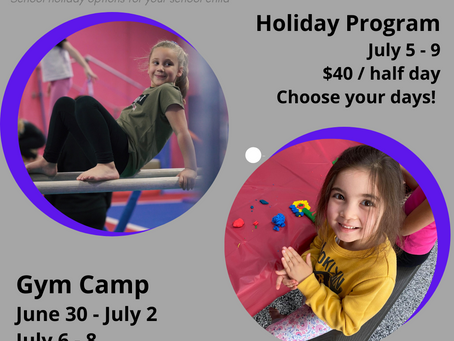 What's On at EKGA during the July Holidays?