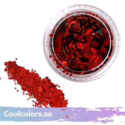 Party Xplosion Glitter Fire Red Chunky 5g