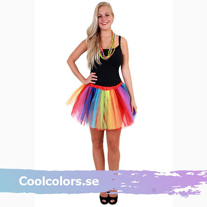Regnbåge kjol rainbow tyll
