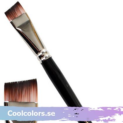 Shorthaired angled brush pensel onestroke
