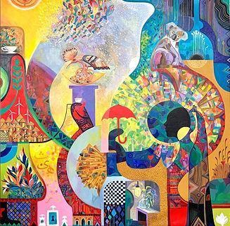 AlmigdadAldikhaiiry_Princess of the Environment_oil on canvas_78x78inches_2020.jpg