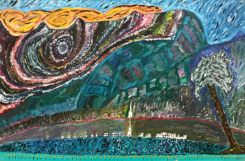 Days End in the Township of Papeete May 17, 1970 24 x 36 inches Acrylic on Canvas Panel $2900 (9)