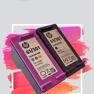 HP-61/301-BLACK / COLOUR
