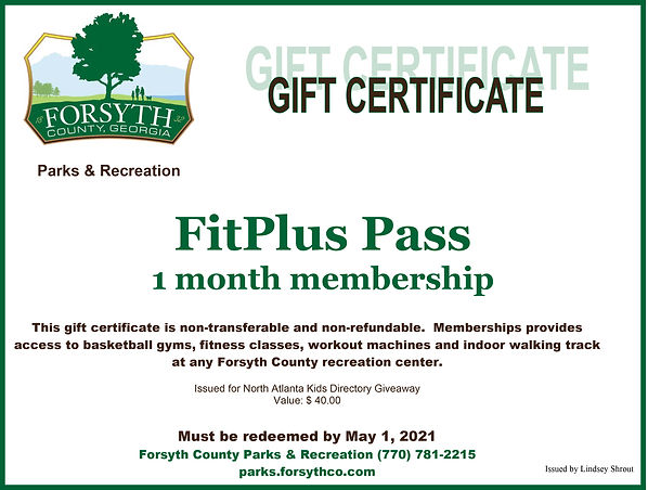 1 mo (39) FitPlus Pass Gift Certificate