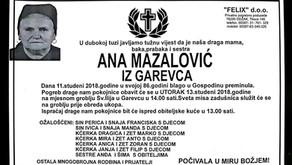 Ana Mazalović