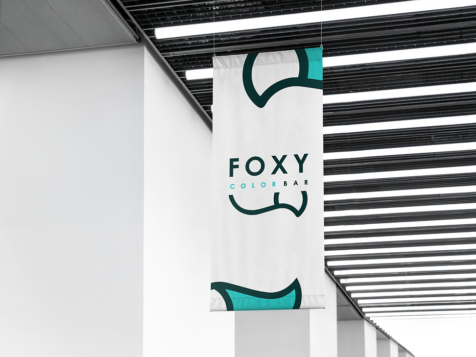 foxy color bar design logo логотип разработкалоготипа айдентика студия дизайна в москве фирменный стиль брендбук гайдлан корпоративный стиль заказать брендбук создание айдентики заказать разработку логотипа услуга по разработке фирменного стиля компании студия дизайна паровоз студия окрашивания фокси