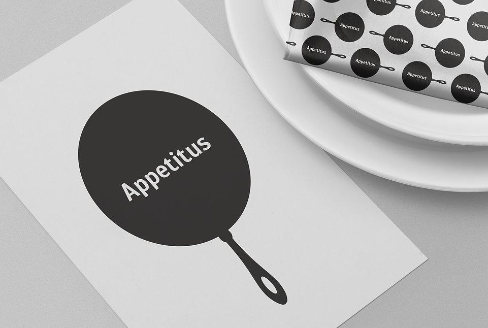 логотип appetitus создание логотипа разработка лого айдентика заказать логотип заказать лого фирменный стиль студия дизайна паровоз студия дизайна москва