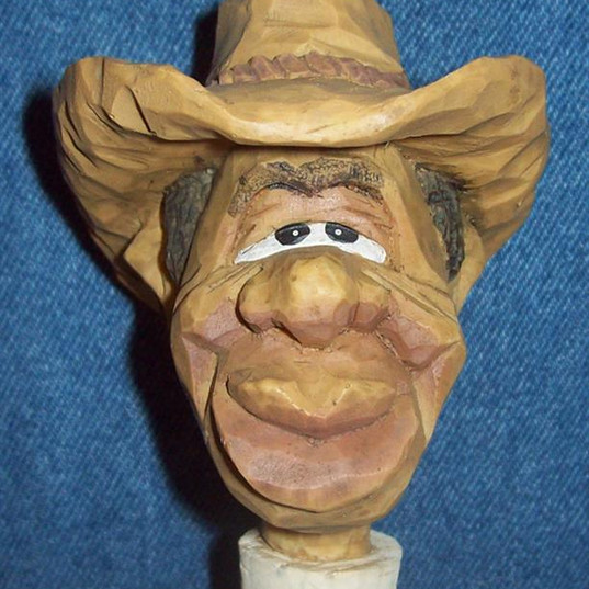 Spit 'N' Whittle Caricature Bottle Stoppers