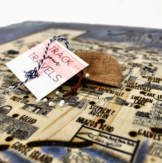 Track Your Travels Map by Frances & the Fir