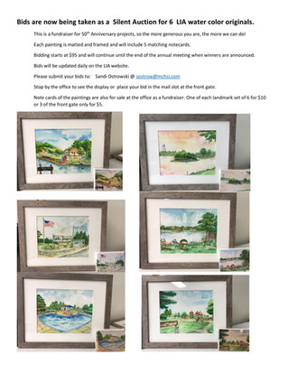 Silent Auction Offers Lake Iroquois Paintings