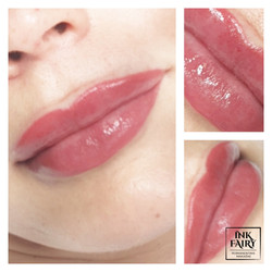 Ombre lūpos 3D efektu