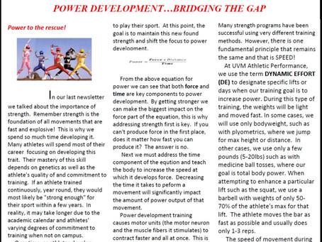 Vermont Athletic Performance Newsletter #2