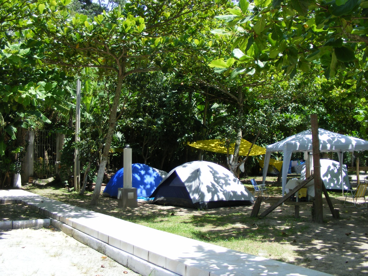 Área reservadas para tendas