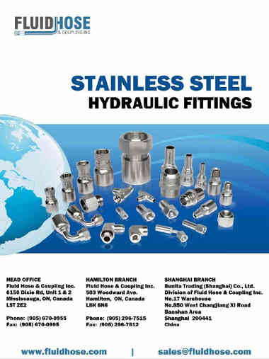 Fluid Hose Stainless Steel Hydraulic Fittings