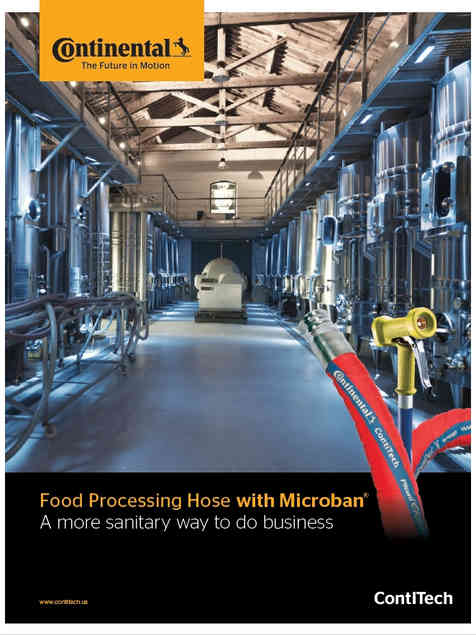 Continental Food Processing Hoses with Microban