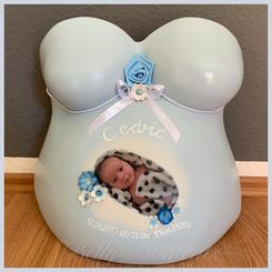 Gipsabdruck Babybauch Foto
