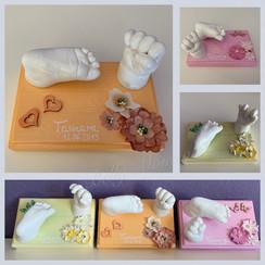 3D Baby Hand- und Fußabdruck