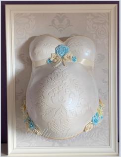 Gipsabdruck Babybauch Ornamente