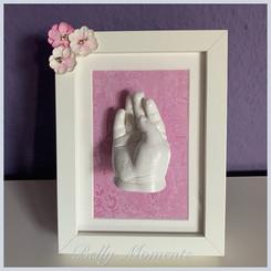3D Baby Handabdruck Rahmen