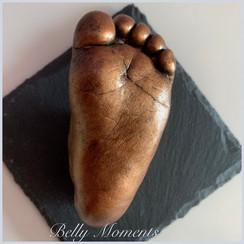 3D Baby Fußabdruck Bronze