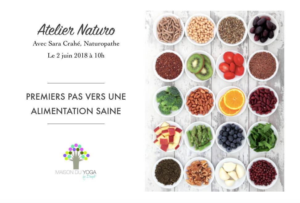 Atelier Naturopathie : Premiers pas vers une alimentation saine
