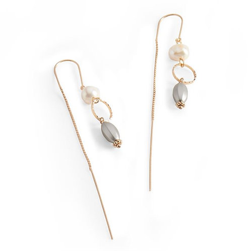 Dainty Pearl Threader Earrings