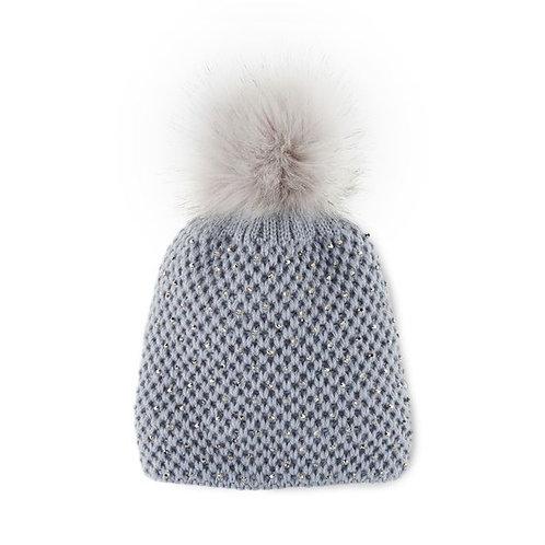 Crystal Pom Hat