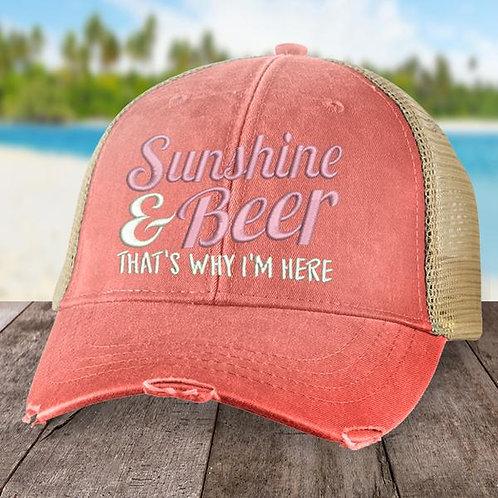 Sunshine and Beer Trucker Hat
